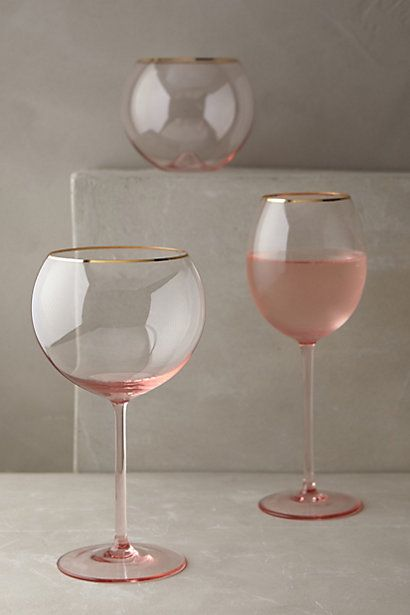 Gilded Rim Stemware, like I need more glassware but these are gorgeous! Wish it came in a champagne flute
