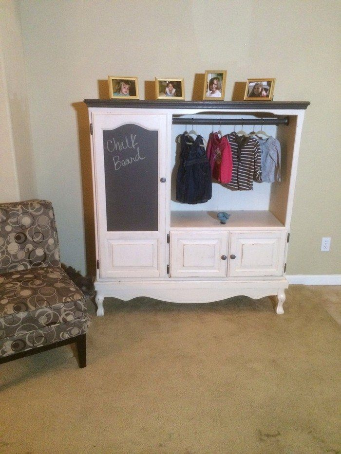 Turn an entertainment center into a kids' armoire   DIY projects for everyone!