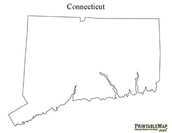 printable map of connecticut