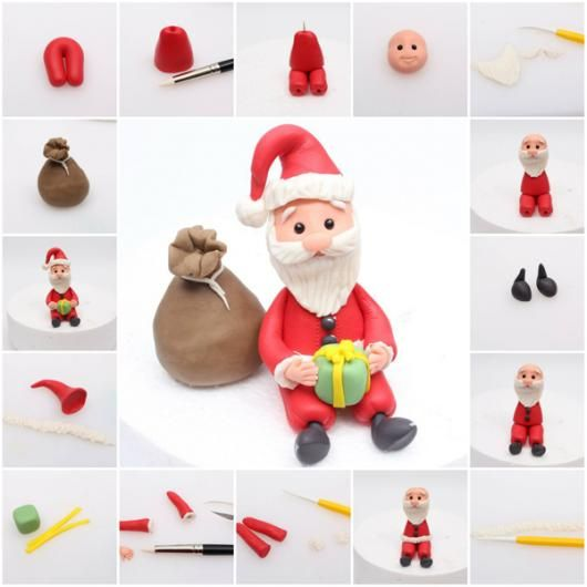 Santa Claus tutorial by Yili Brown of Starry Delights: http://satinice.com/fondant-tutorials