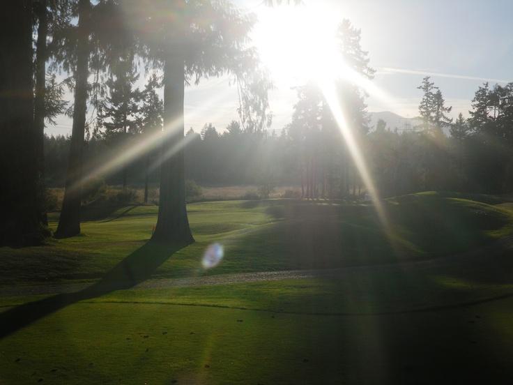 Sun Setting - Arrowsmith Golf, Qualicum Beach (Vancouver Island)