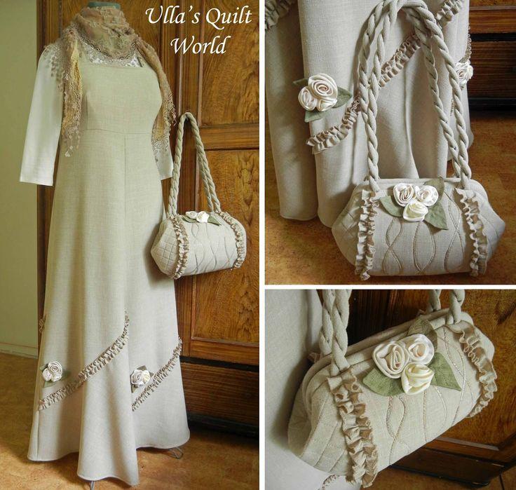 Do Ulla Quilt Mundo: saco acolchoado, quadro tubular e vestido