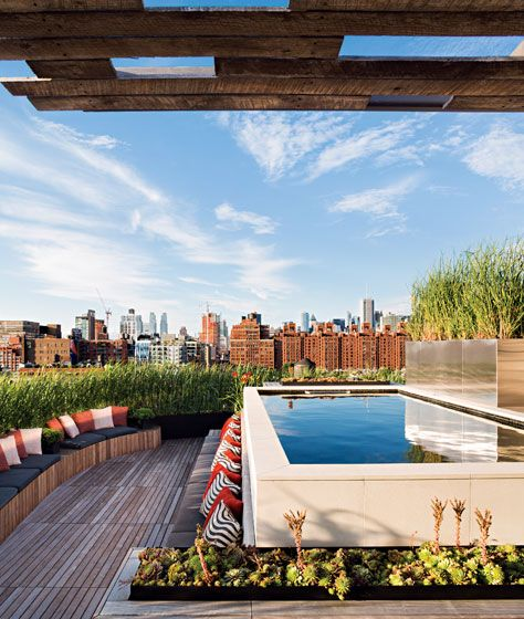 """What's better than a rooftop pool? One that can be heated to 104 degrees for a mid-January dip."" nymag.com"
