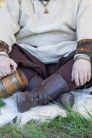 Викингские сапоги тисненые
