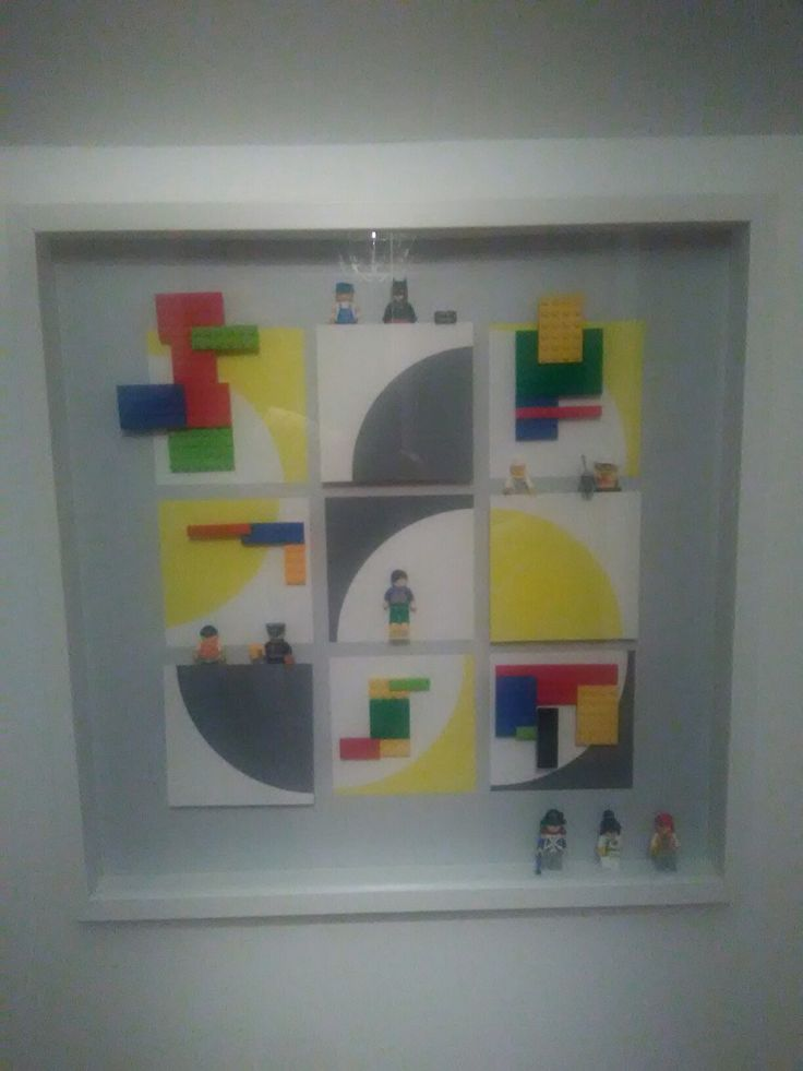 IKEA picture recycled to display Lego for my sons room!