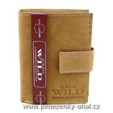 Kožená pánská peněženka značky Always Wild s přezkou.