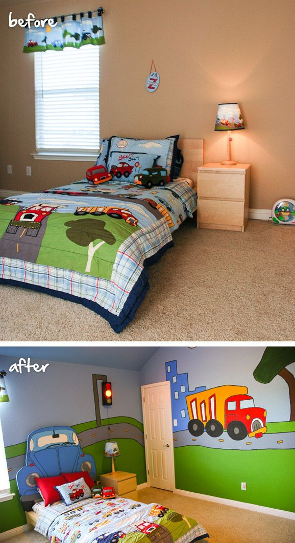 A Before And After Shot Of Atliving With Lindsay S Son S Room Via Mycolortopia