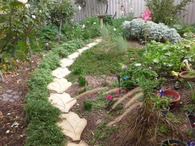 Pathway to birdbath