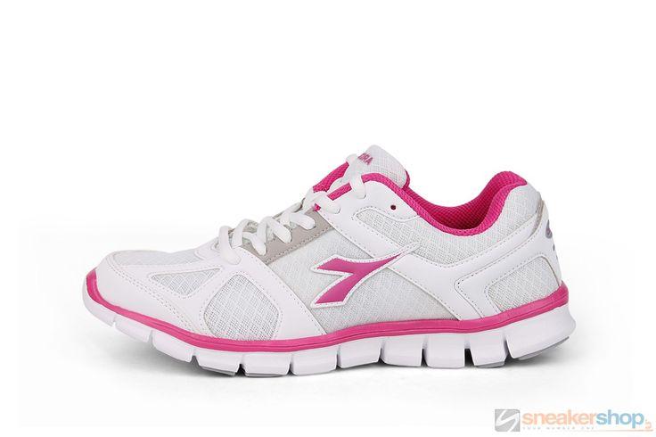 Diadora Hawk (White/Pink) | 158981 01 C2375