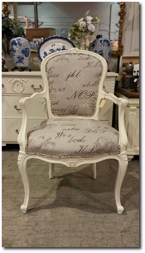 Distressed Painted Furniture 37 Beautiful Examples-Mi Lan Lee's Painted French Chair