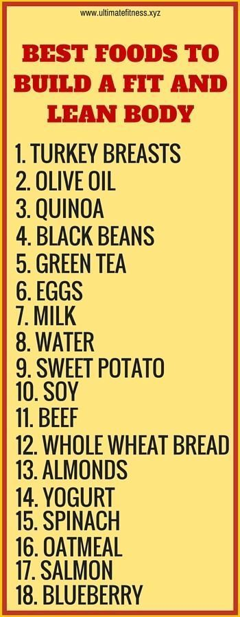 cool 18 best foods to build a fit and lean body. Click to read why they help....