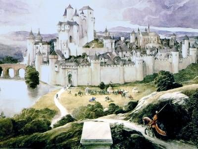 Camelot, King Arthur's realm.