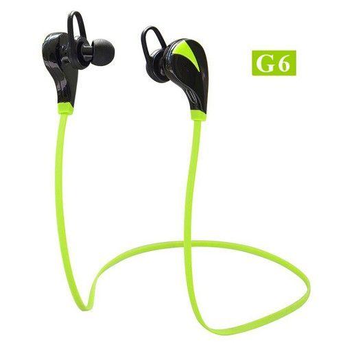 G6 Bluetooth 4.0 Earphone Wireless Stereo Studio Earburds Sport Sweatproof Handsfree Earphone With Mic Handsfree For xiaomi