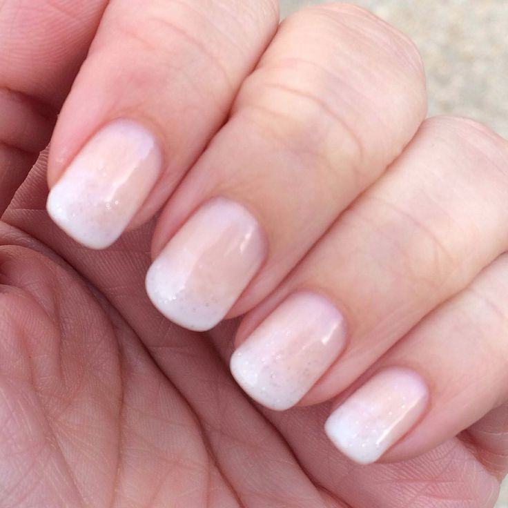 French Ombré with some sparkle! Nails for my wedding...check!