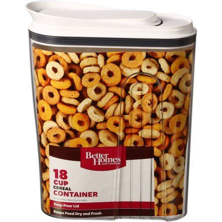 Best 25 cereal containers ideas on pinterest kitchen organization smart kitchen and kitchen for Better homes and gardens canisters