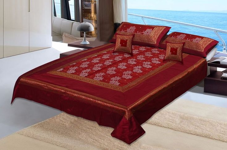 Jaipuri Bed Sheet 100% cotton Bed Cover king Bed Sheet Pillow Case Bedspread  #Unbranded #Asian
