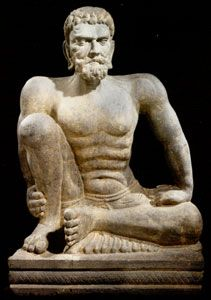 Gandhara Schist Sculpture of an Ascetic, Afghanistan/Pakistan, circa: 2nd Century AD to 3rd Century AD