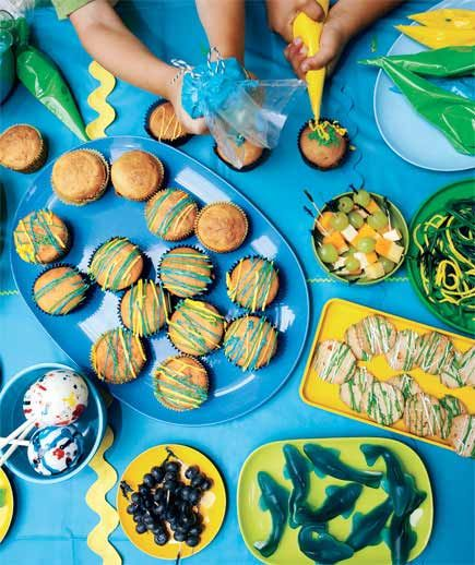 Target audience: 5- to 7-year-olds  A mess is a theme? To you, it's just another Saturday. But, really, this idea—devoted to splatters and spills (or, if you're brave, dirt and goo)—will make you the coolest mom on the planet. And you can throw out the party-prep perfectionism (iced rosettes just so). Stock up on Silly String, set out paint (washable—you haven't totally lost your mind), and serve food with graffiti-style toppings.