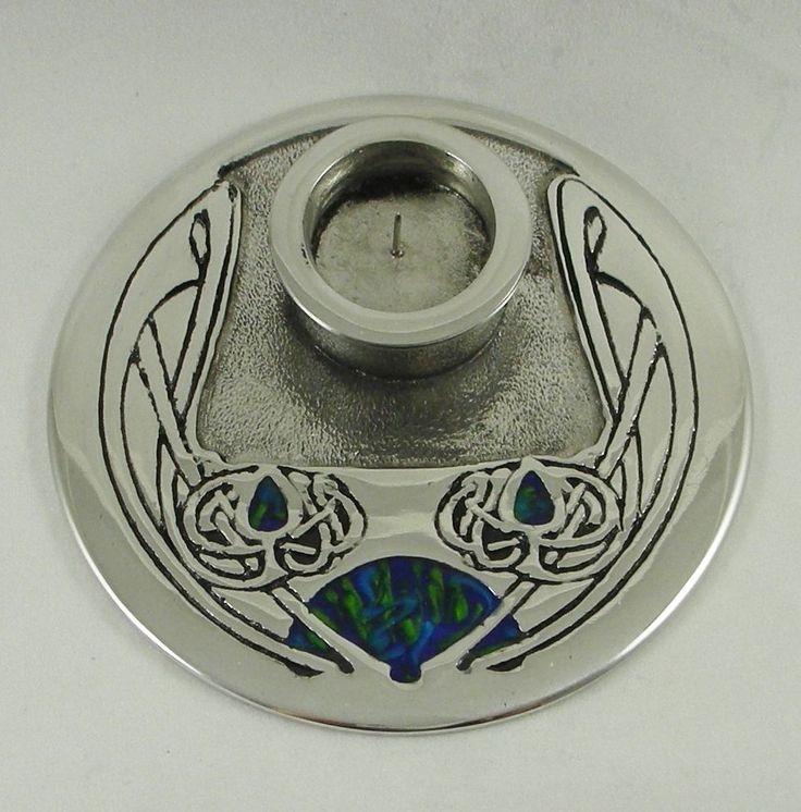 Solid English Pewter | Art Nouveau Candle Stick | Archibald Knox Design | CS6