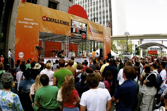 Hadley Media worked with the FOOD NETWORK to produce The Food Network Challenge! A multi-city tour that featured a stage with three kitchens, interactive kiosks, a bartender flair stage, on-line sweepstakes site and more.