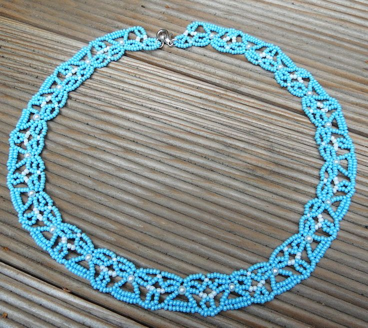 Free pattern for necklace Canopee by Catherine Perennes