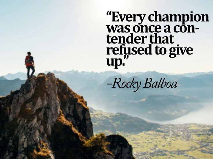 Every champion was once a contender that refused to give up. -Rocky Balboa #TopGearSport #SundayMotivational