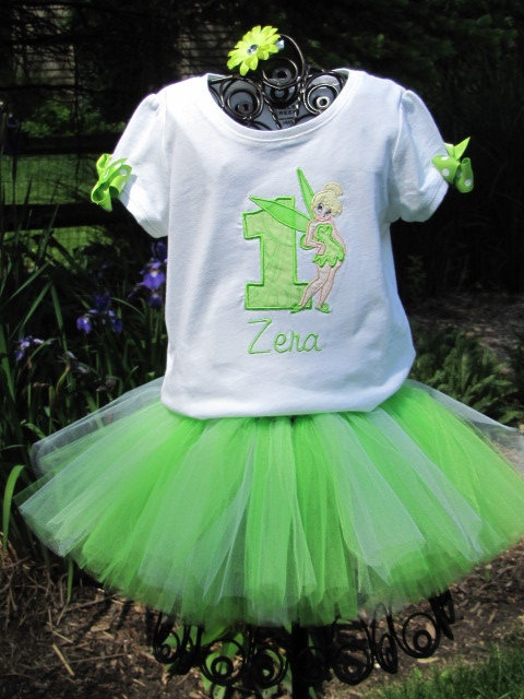 Personalized Birthday Number Tinkerbell Tutu Set