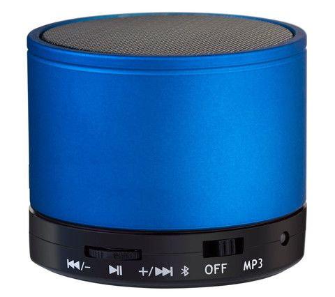 Bluetooth speaker in blue