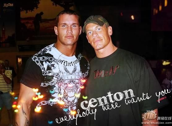 Photo of Randy Orton & his friend athlete  John Cena - United States