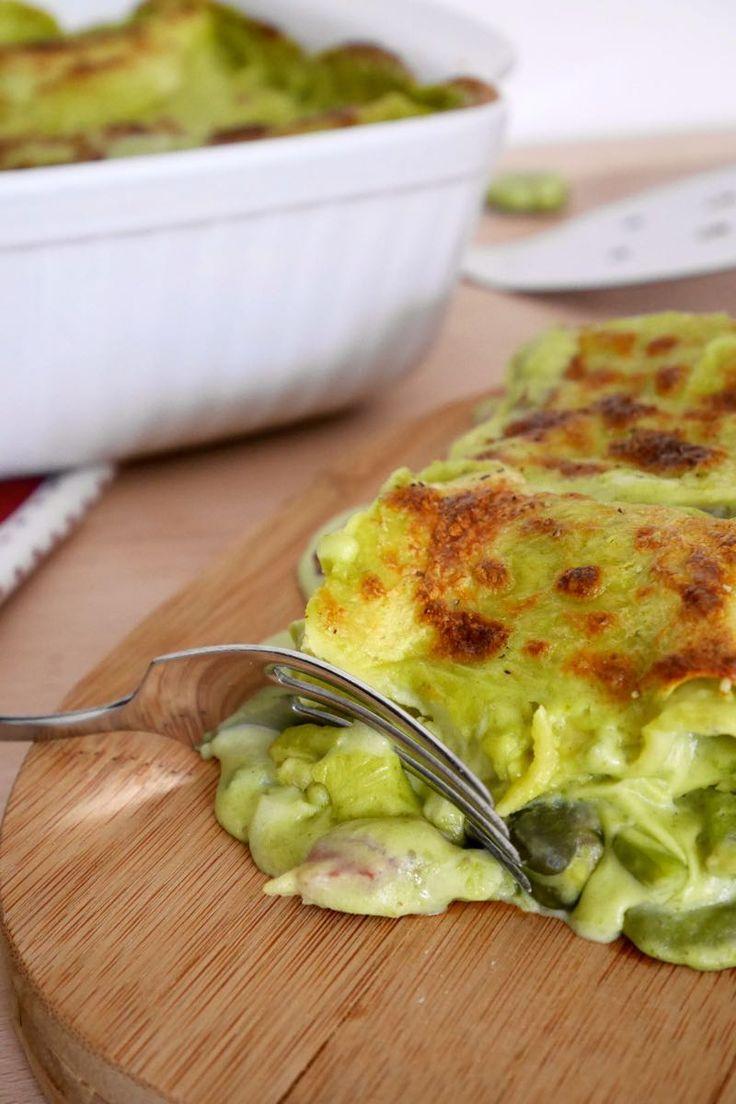 Lasagne fave verdi e prosciutto crudo