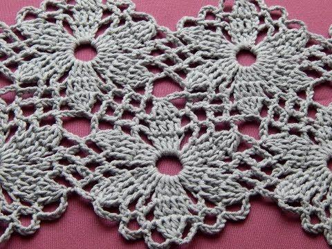 Сrochet Flower Motif. Crochet Shawl. Tutorial. Part 1 - YouTube