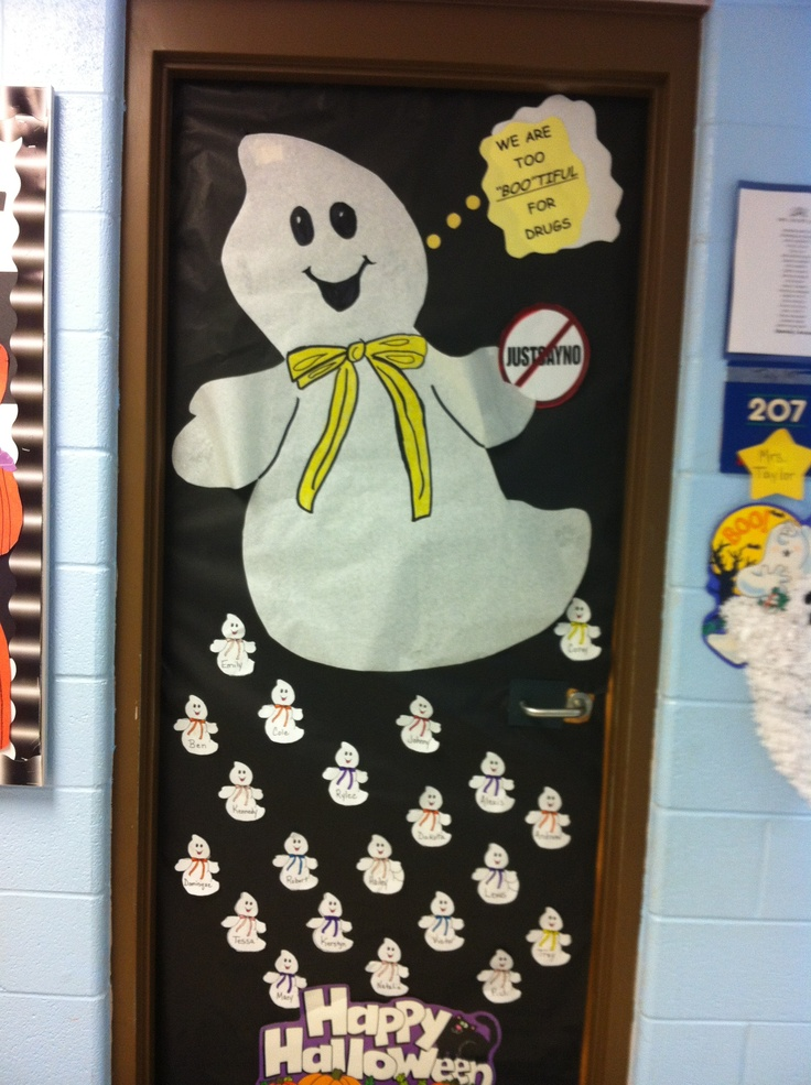 Classroom Door Decoration Ideas For Red Ribbon Week ~ Door decoration for drug awareness week bulletin board
