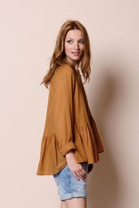 blouse Second ambre 100% coton - chemise Woman - Des Petits Hauts