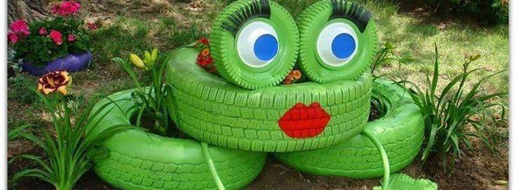 1000 images about llantas recicladas en pinterest for Decoracion de jardin con llantas