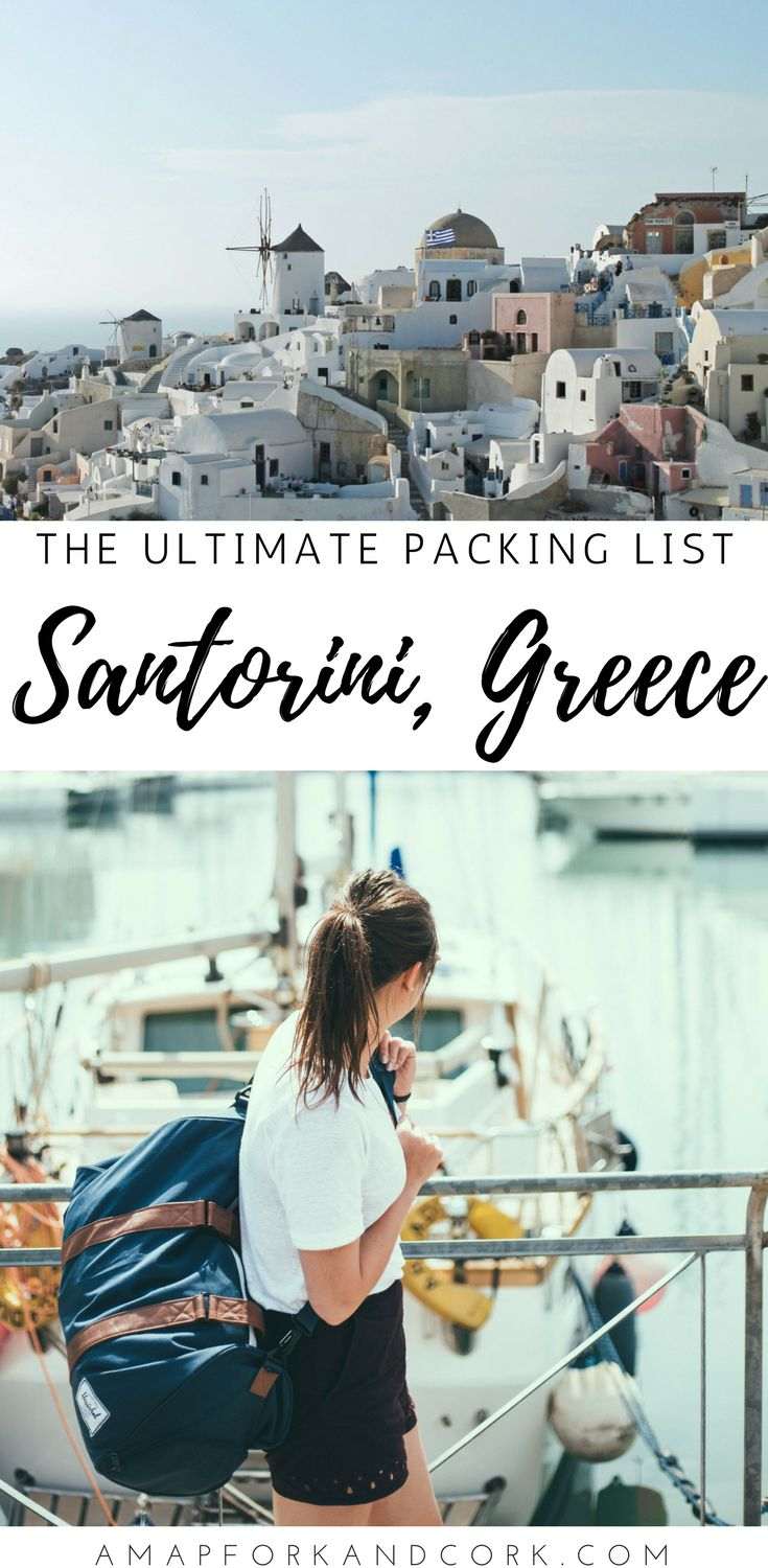 What to wear in Santorini | Greece travel outfits | Pack Light | Summer Fashion #Santorini #Greece #Packing