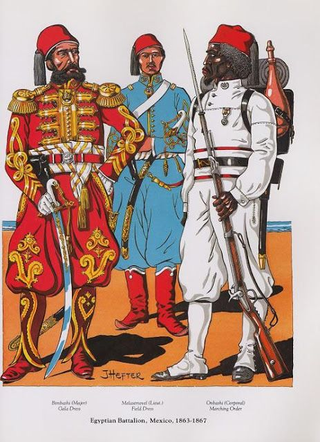 PLATES- CMH: Egyptian Battalion, Mexico, 1863-1867, by Joseph Hefter.