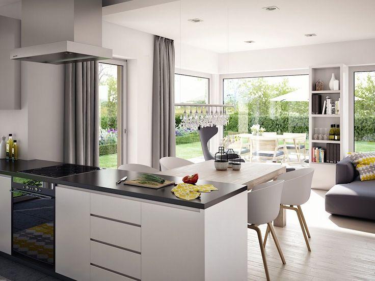 Offene Küche mit Esstisch, Wohn Esszimmer modern einrichten   Wohnideen Inneneinrichtung ...