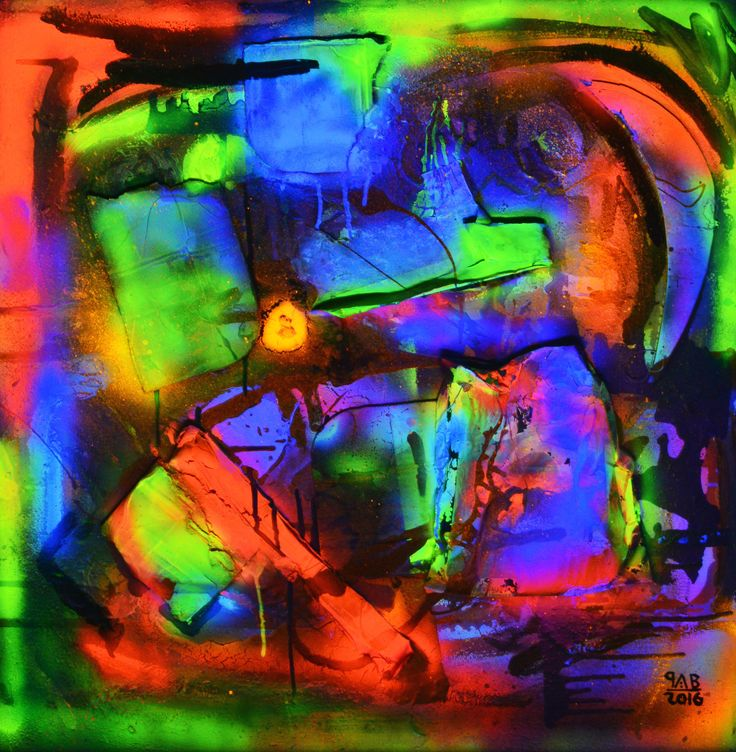 Noche Neón / Neon Night Light On 2016 80 x 80 cm Técnicas mixtas / Mixed techniques