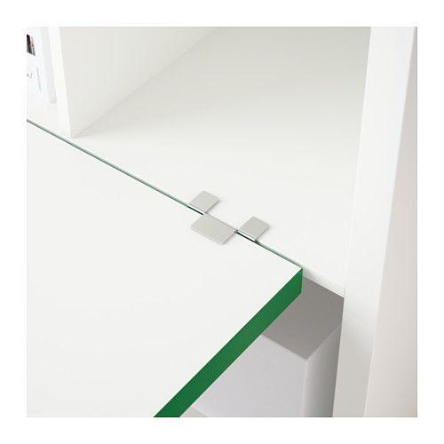 KALLAX Schreibtischkombination - weiß/grün - IKEA