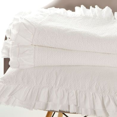 COTTON FRILL BEDSPREAD AND PILLOW COVER $ 22.90 - $ 129.00