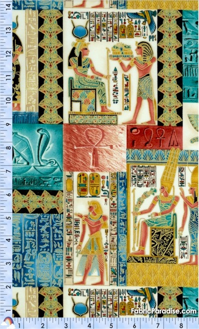 Legacy - Gilded Egyptian Collage #1 on Cream