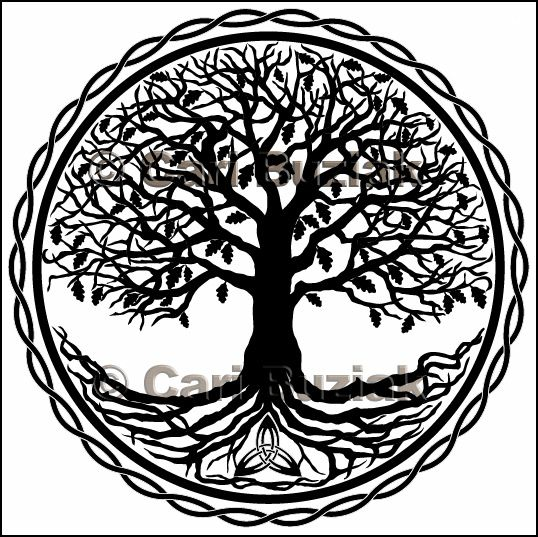 Celtic Tree Of Life Tattoo Designs | Tree of Life glass etch design for Healy Engraving. This design is ...