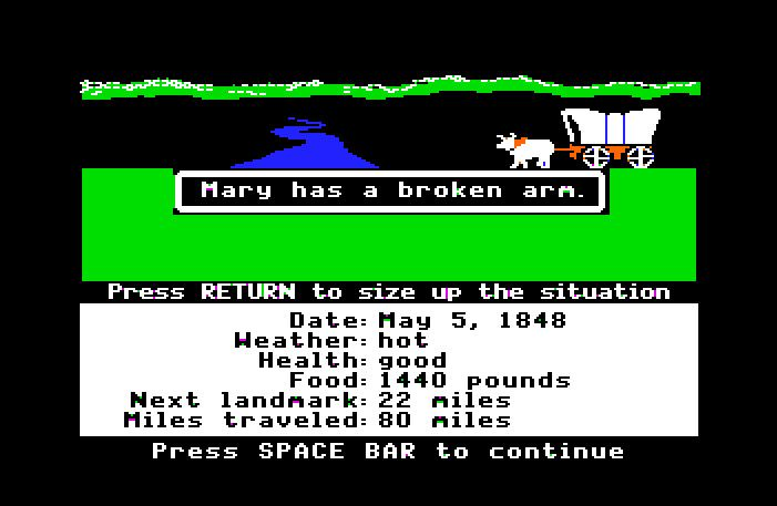 You have died of dysentery. Oregon Trail #90s
