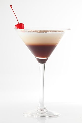 Chocolate Covered Cherry Martini:  1¼ oz. Godiva Chocolate Liqueur, ¾ oz. amaretto, ½ oz. Pinnacle Vanilla Vodka, ½ oz. Baileys Irish Cream Liqueur and Maraschino cherries.  Add ingredients to a shaker with ice. Shake and  strain into a cocktail glass and garnish with a  cherry. Sweeten the cocktail by adding a splash of  cherry juice.