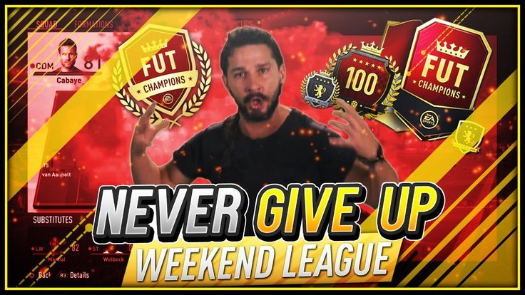 This video will motivate you to never give up in the Weekend League FINALS - FIFA 17 https://www.youtube.com/watch?v=4edgGXLXKuA