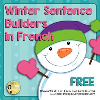 Free FRENCH Winter Sentence Builders - L'hiver