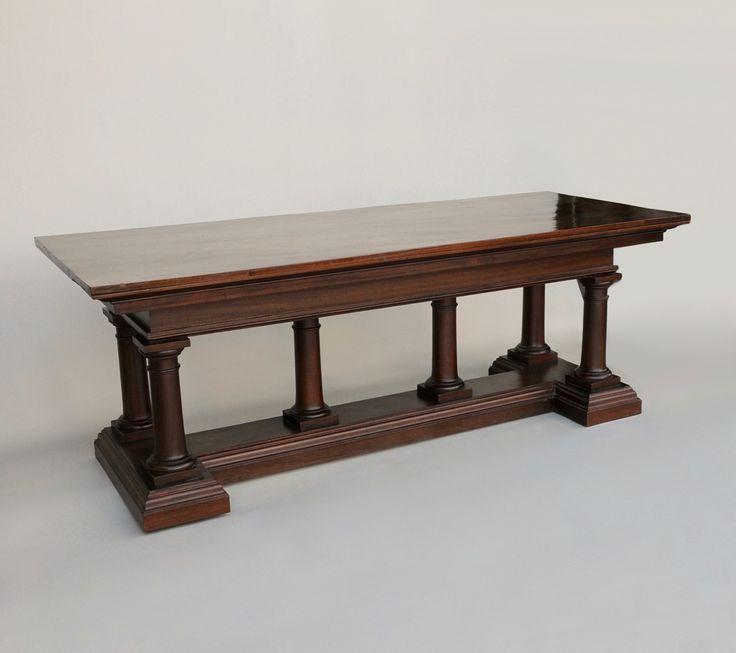 Italian Mahogany Refectory Table