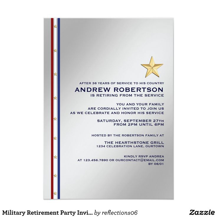 39 best military retirement party invitations images on pinterest military retirement party invitation stopboris Image collections