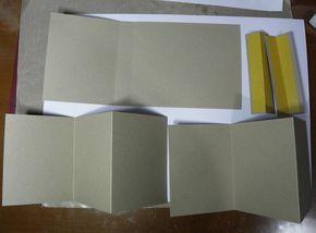 Voici une idée de mini album simple et facile à réaliser Le matériel utilisé 2 feuilles 30 x 30 ici marron clair papier uni beige 190 gr clairefontaine en A4 Des tampons de fond + tampons montagne les encres distress, memento noire, versamark , versafine...