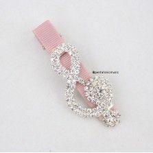 Bling Treble Hair Clip - Pink